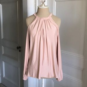 Ramy Brook beaded cold shoulder blouse